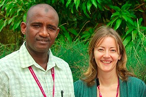 Ignatius Baldeh, Clinical Laboratory Manager and Emma Hancox, Quality Manager