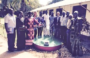 Dr Nafo-Traore (Executive Director – Roll Back Malaria) with members from the DCE Theme on her visit on 30th June