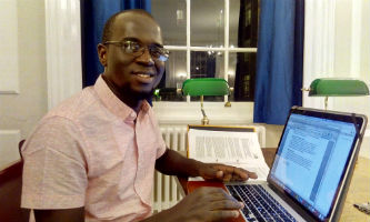 Dr Modou Jobe, a research Clinician with the Nutition Theme of MRC Unit The Gambia, and recipient of the Wellcome Trust Masters Fellowship in Public Health and Tropical Medicine