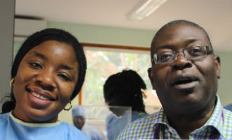 (left) Chinelo Ebruke, Phd student, Vaccines and Immunity Team (Right)  Martin Antonio Head, Molecular Microbiology and Mycobacteriology