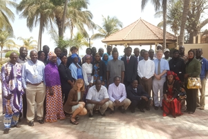 Participants during the COSMIC study policy panel meeting in The Gambia