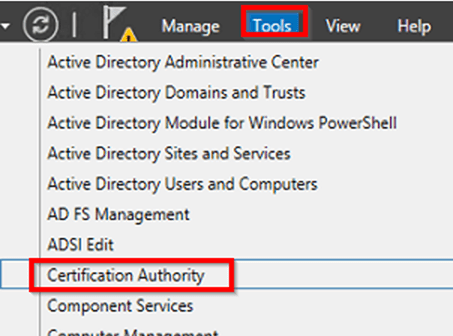 Requesting an exchange certificate from an enterprise certificate.