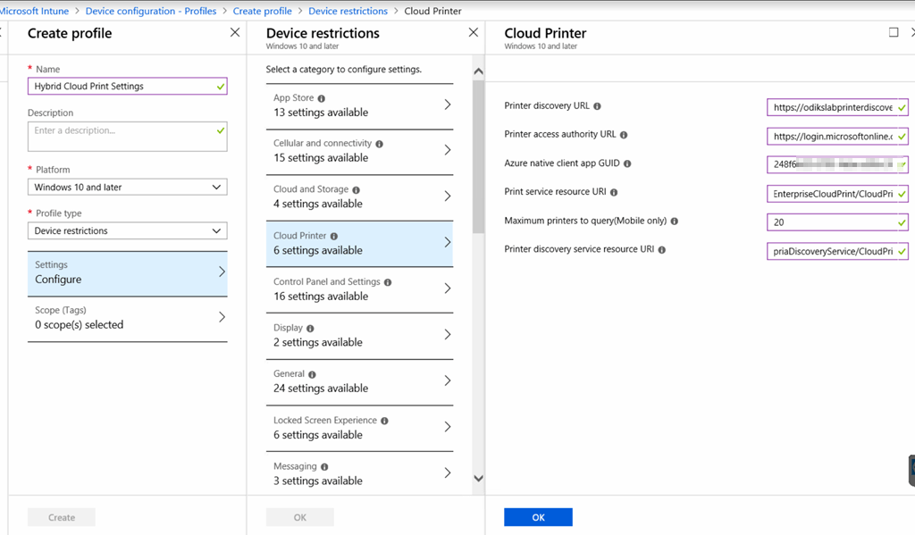 Hybrid Cloud Print with Passthrough Authentication