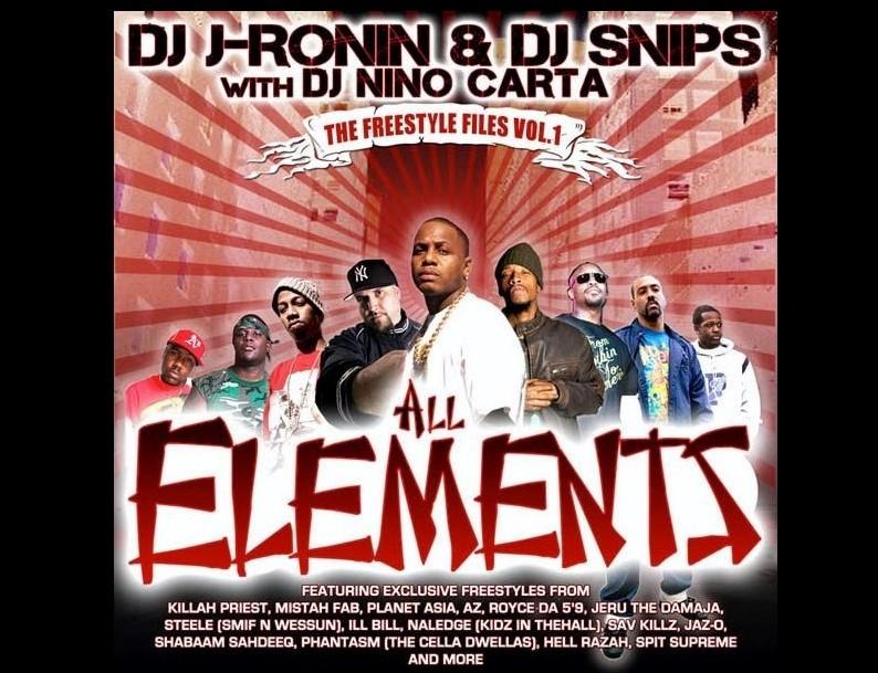 """DJ J-Ronin """"Freestyle Files Vol.1"""" (Mixtape) with DJ Snips & DJ Nino Carta"""