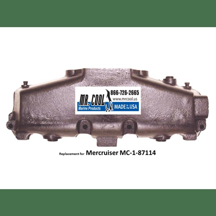 860246a10 us mercruiser exhaust manifold mc 1 87114