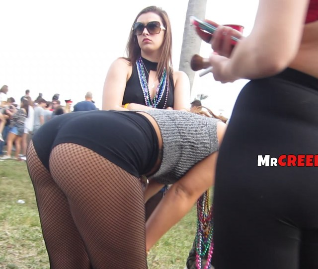 Incredible Firm Butt In Shorts Bends Over On Party