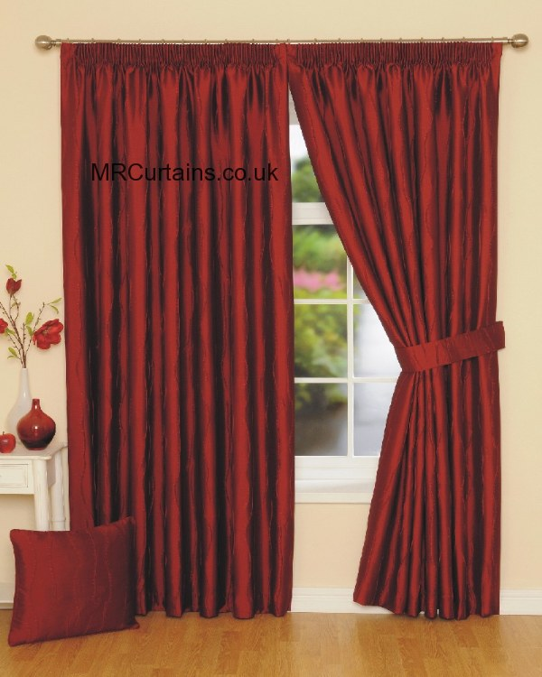 Rectella Julian Charles Jazz Pencil Pleat Curtain From 3600 In Red