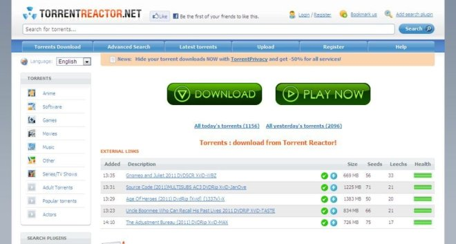 TORRENT PROXY/MIRROR SITES TO UNBLOCK TORRENTREACTOR.NET