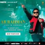 A.R. RAHMAN LIVE SHOW IN CHENNAI BOOK TICKET