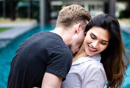 Kissing neck shows deep intimacy