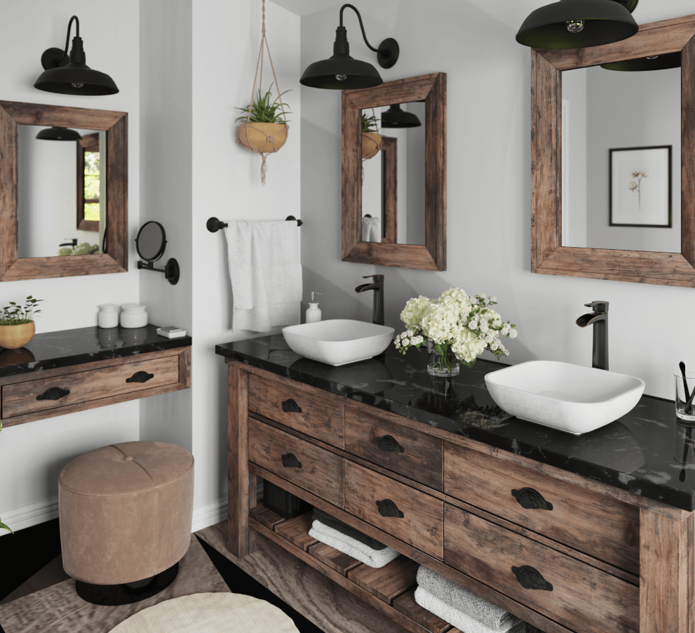 to decorate the perfect farmhouse bathroom