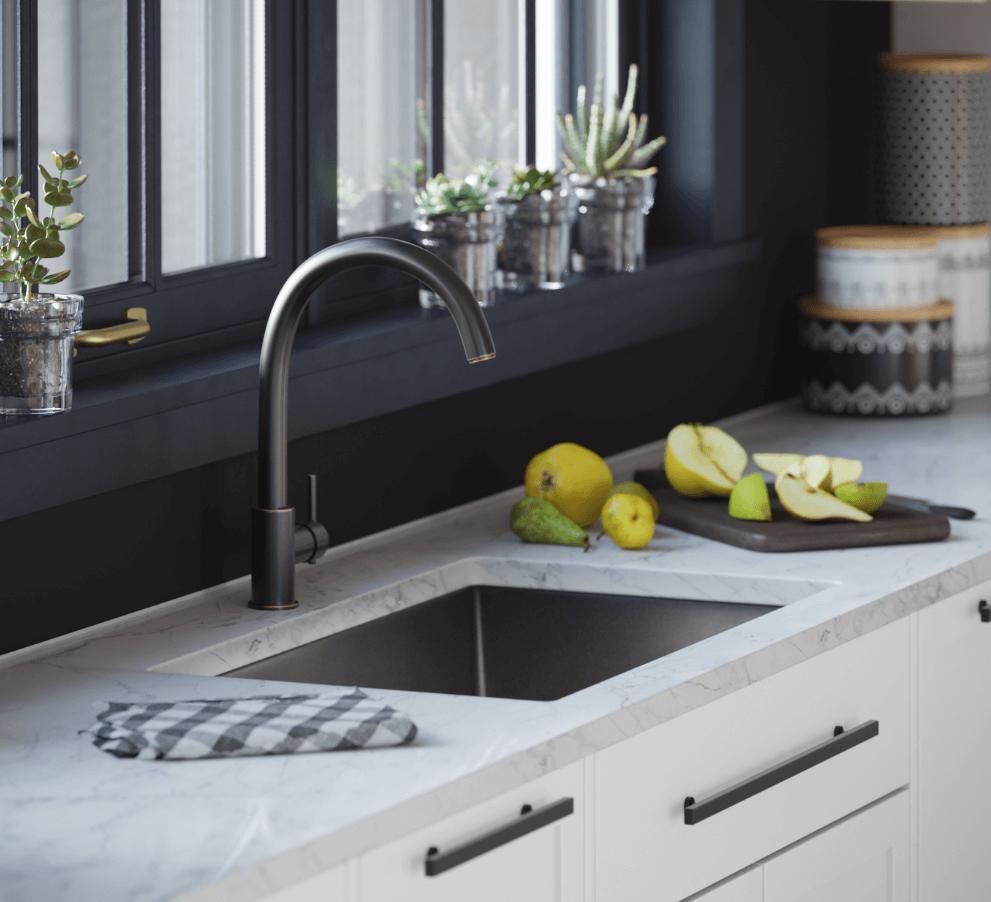 undermount sink reveals positive