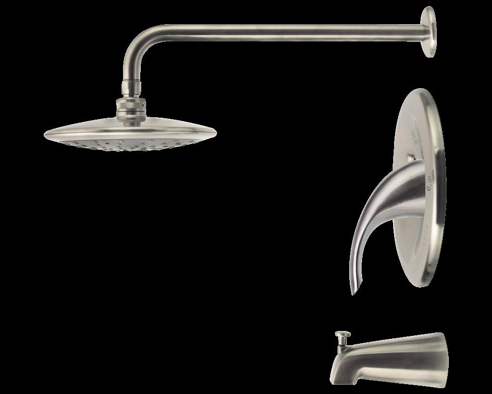 750 bn brushed nickel 3 piece rain head shower set