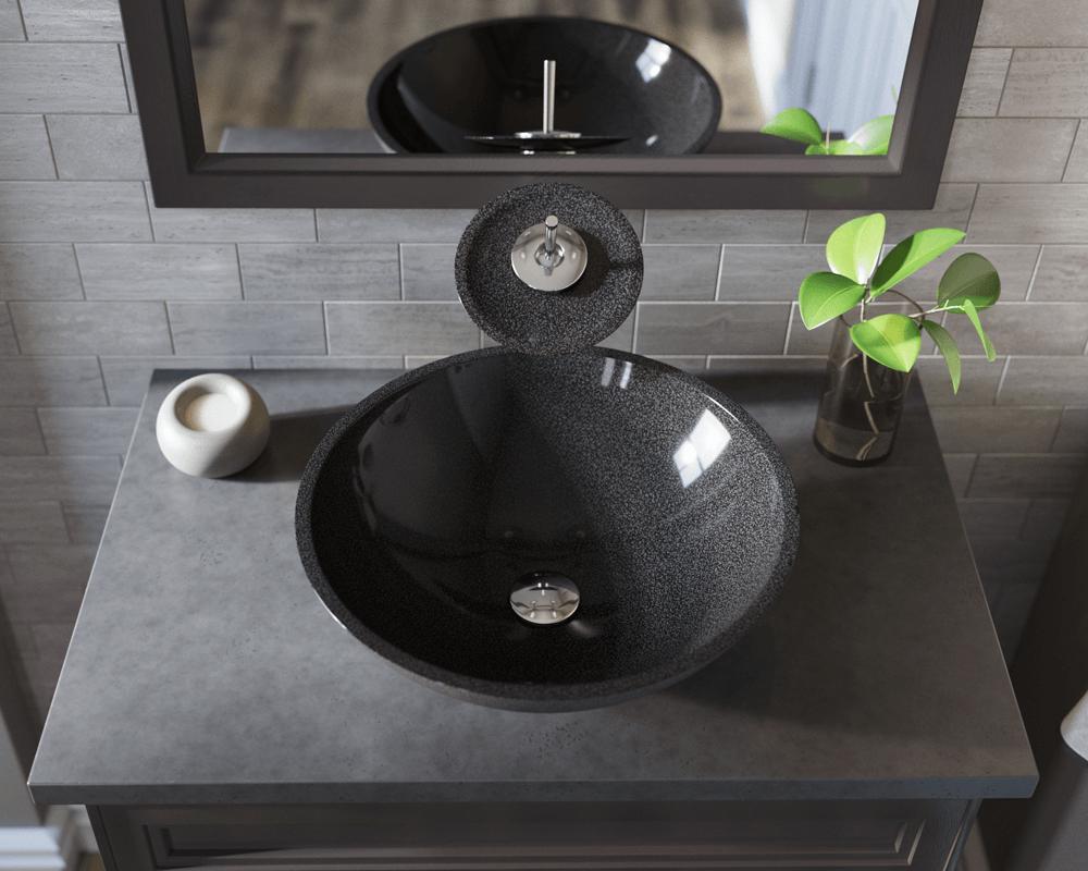 850 black granite vessel sink