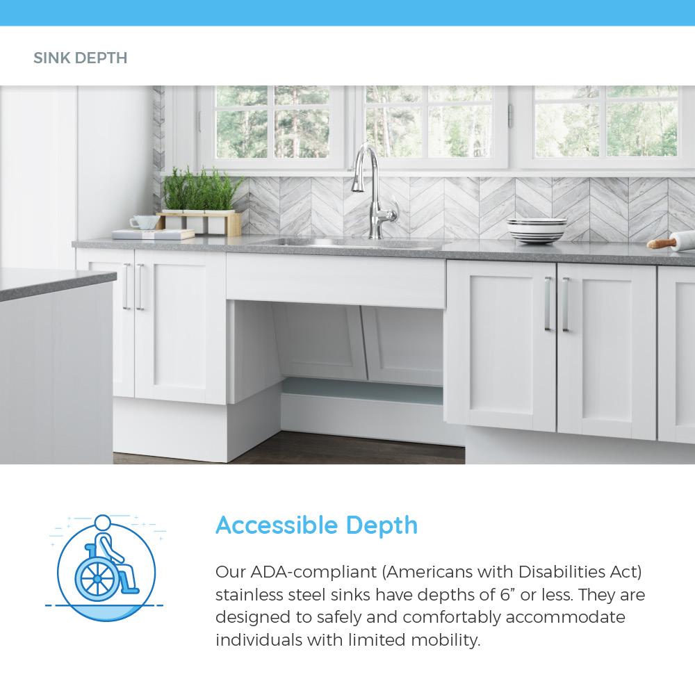 adat550d double bowl stainless steel ada sink