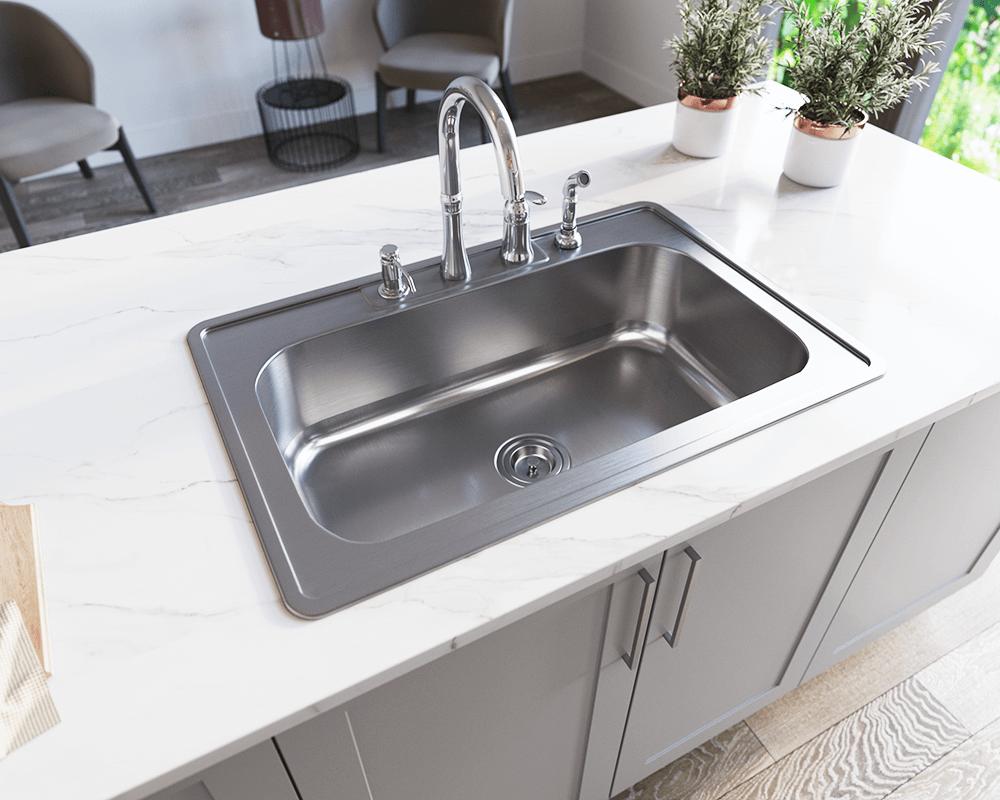 us1030t single bowl topmount stainless steel sink