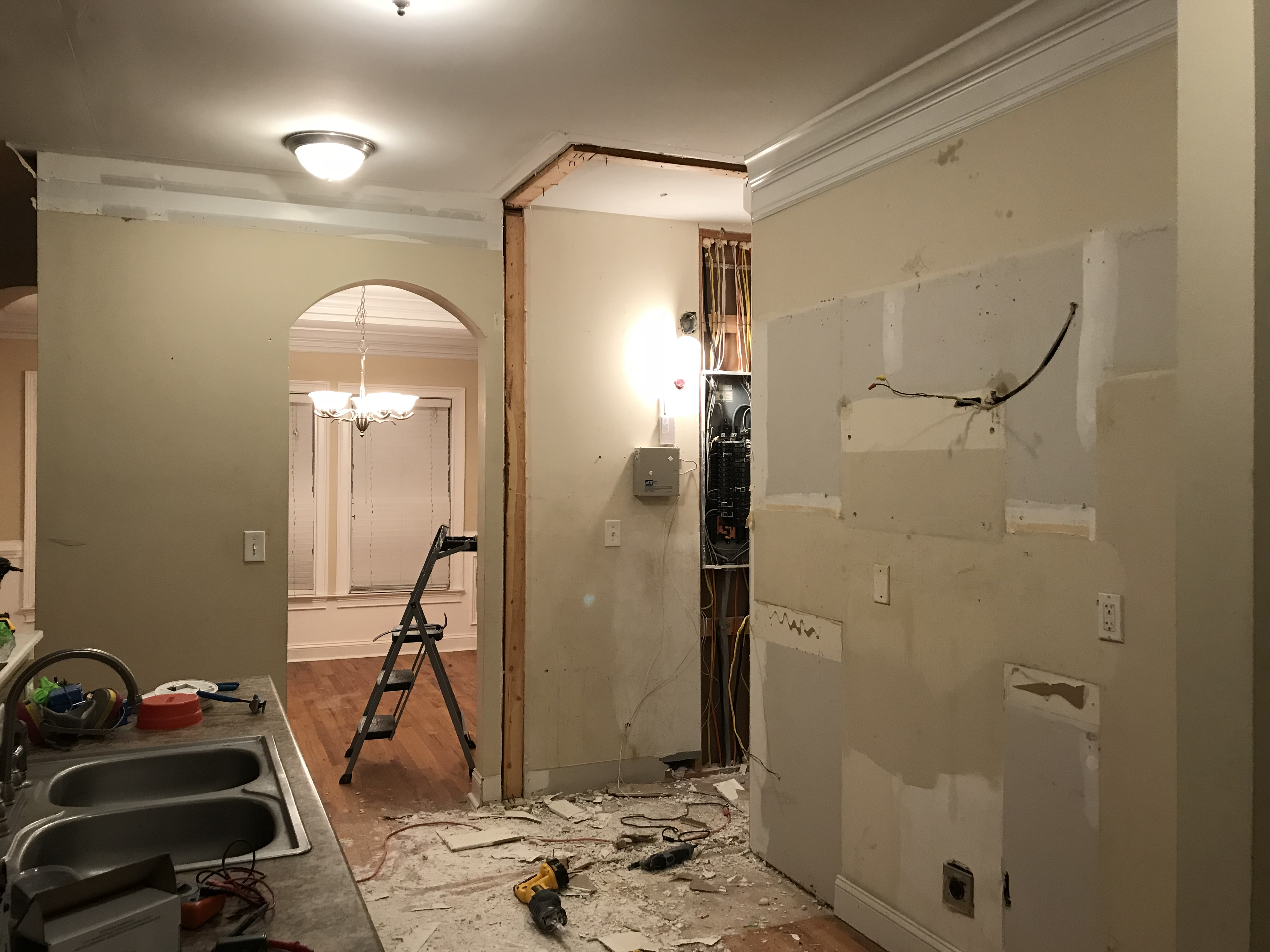 In Our Last Post, We Got About Halfway Through Our Kitchen Demolition In  House 1 By Removing The Entryway To The Utility Closet Along With All The  Cabinets ...