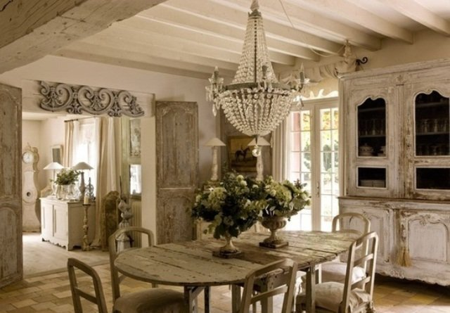shabby chic dining rooms - Lo stile Shabby Chic : cosa è ?