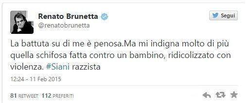 211135 1a8 - Renato Brunetta attacca Alessandro Siani su Twitter
