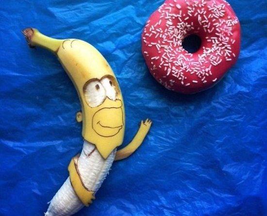 image4 - Opere d'arte fatte con le banane