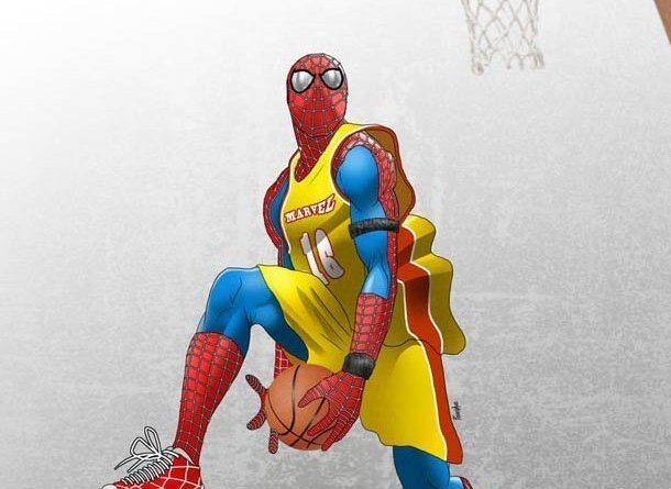 spiderman basketball pramodace - Spiderman gioca a basket