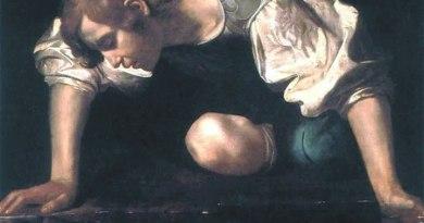 Narciso Caravaggio dettaglio - Narciso