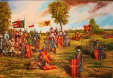 Rappresentazione della Battaglia di Campaldino 696x483 320x222 - Cecco il Gaudente