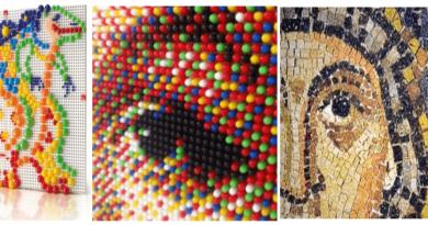 chiiodinipIxcelMosaico - I chiodini prima dei pixel e nuovi decori