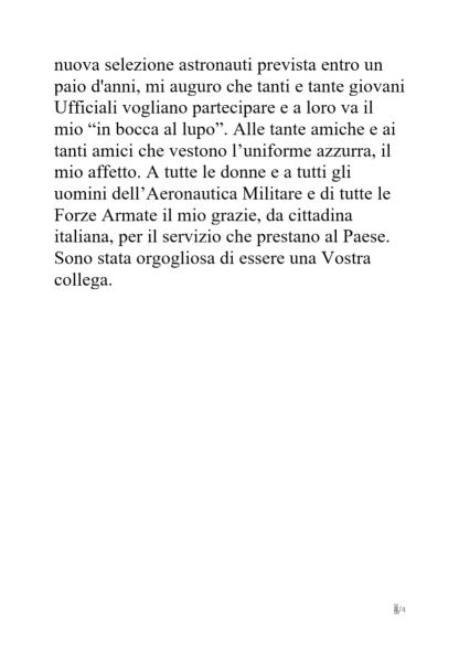dichiarazioniSamantha4 320x453 - Samantha Cristoforetti, addio Aeronautica Militare