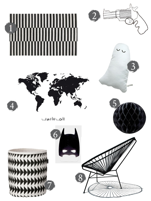 Monochrome Interiors for Kids