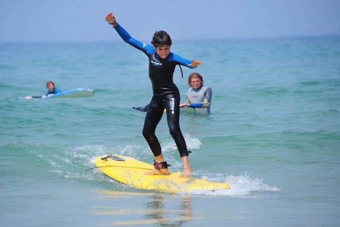 elemental surf school cornwall with kids