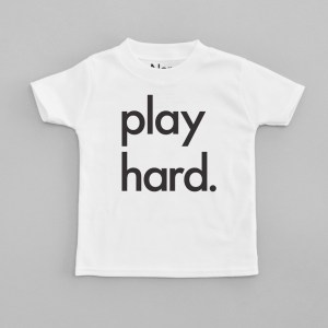 Cool Slogan T-Shirts for Kids: Play Hard Nor-Folk t-shirt