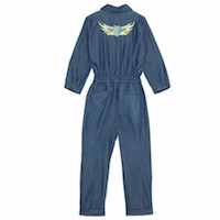 I Love Gorgeous Denim Flying Suit