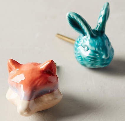 Anthropology Forest Menagerie Knobs