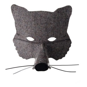 Felt wolf mask by Frida's Tierchen