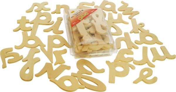 Cursive Wooden Letters Handwriting Aid