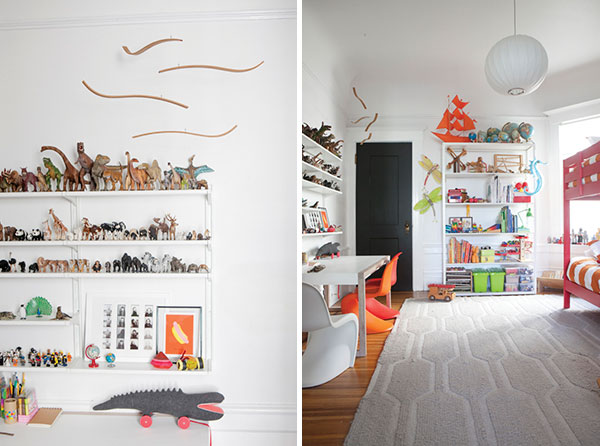 Dino shelves on Oh Happy Day blog