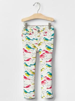 Gap Girls Bird Print Skinny Jeans (deleted 950e6ff5ad3878f0c904341dd4a1f261)