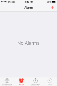 Happiness Is: No Alarm Clock