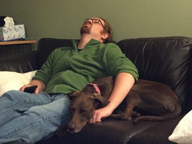 My dog, Lucy, also appreciates golf naps.