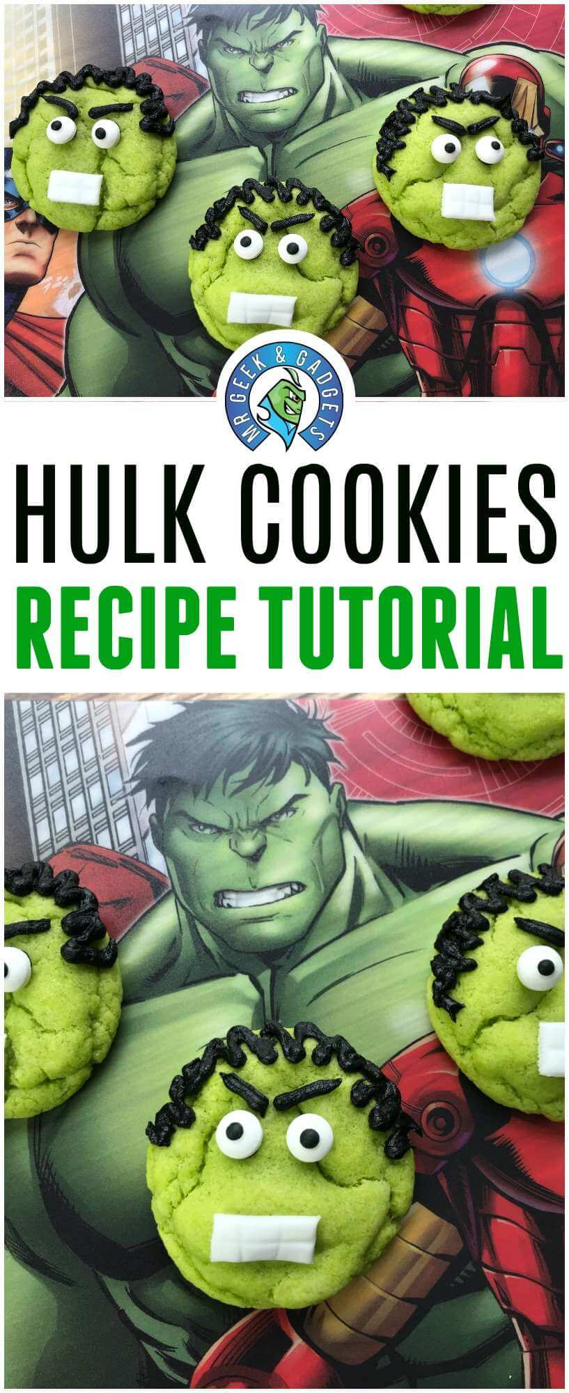 Pin Me - Hulk Cookies Recipe And Tutorial For kids
