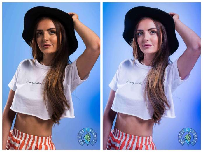 Beginners Guide to Portrait Photography Blue Gel hands on Hat