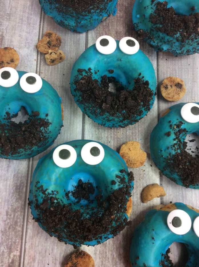 Cookie Monster Donuts Finished Finishing Touches Portrait