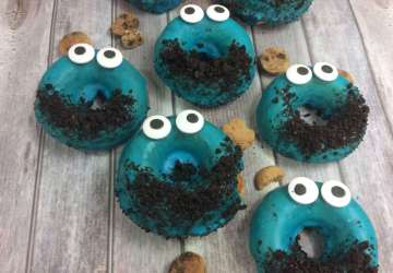 Cookie Monster Donuts Finished 2