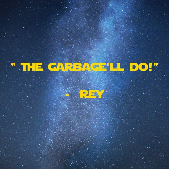 The Garbage'll Do! | 31 Memorable Star Wars Quotes for Geeks