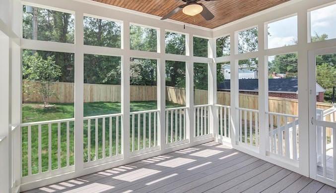 a screened porch or sunroom