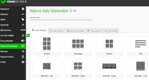 native ads generator crack revenue