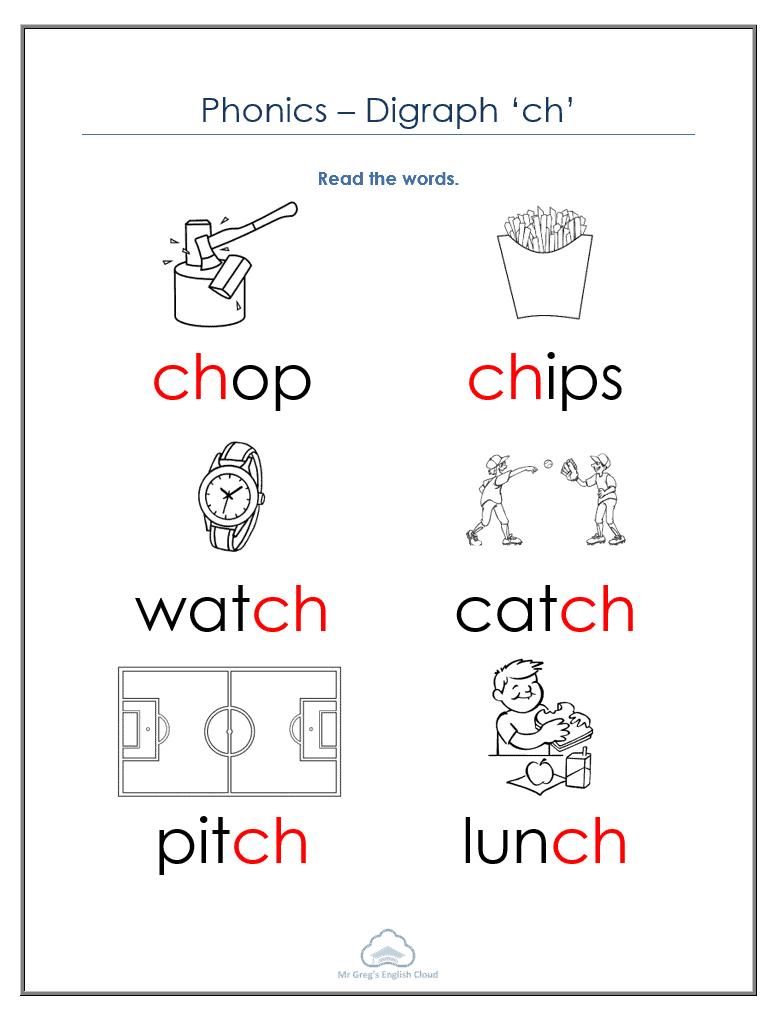 Kindergarten Phonics – 'ch'