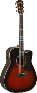 Yamaha A-Series A3R Acoustic-Electric Guitar with Soft Case, Tobacco Sunburst