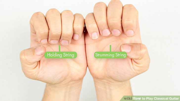 Difference between a strumming and fretting hand